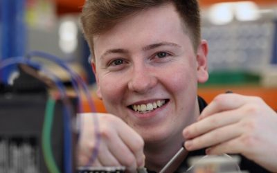 Impressive apprentice engineering a promising career with Renishaw