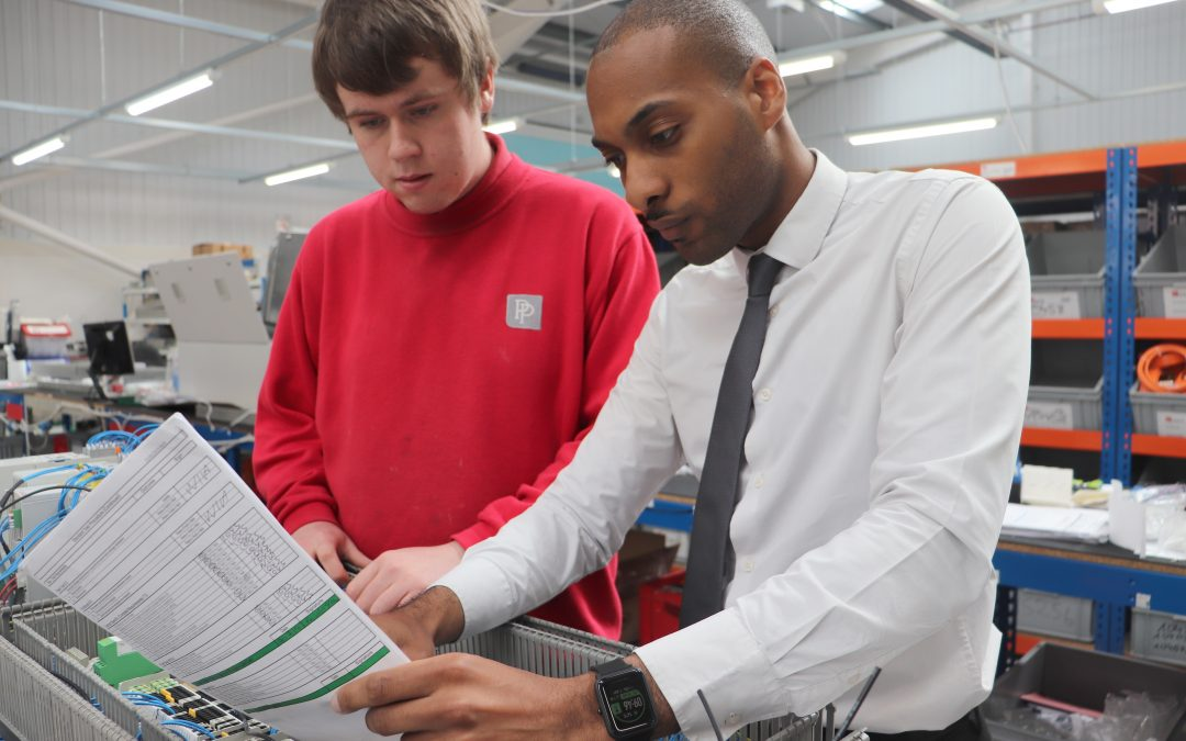Apprentices playing their part at PP Control and Automation